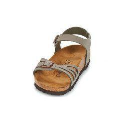 Sandały Birkenstock  BALI. Szare sandały damskie marki Birkenstock, z materiału. Za 349,00 zł.