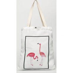 Answear - Torebka. Szare torebki klasyczne damskie marki ANSWEAR, z materiału, duże. W wyprzedaży za 29,90 zł.