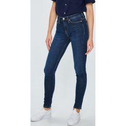 Calvin Klein Jeans - Jeansy 001. Niebieskie jeansy damskie Calvin Klein Jeans, z bawełny. Za 399,90 zł.
