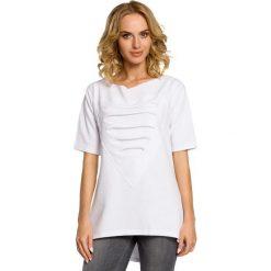ELISA Dresowa bluza tunika z sercem  - biała. Szare tuniki damskie Moe, s, z dresówki. Za 89,00 zł.