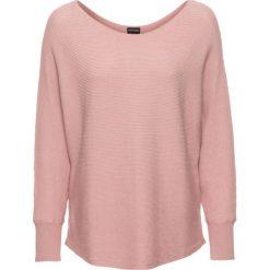 """Swetry oversize damskie: Sweter w prążek """"oversize"""" bonprix różowy melanż"""