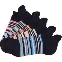 Skarpetki damskie: Skarpetki do sneakersów Arizona (5 par) bonprix 5x czarny w paski