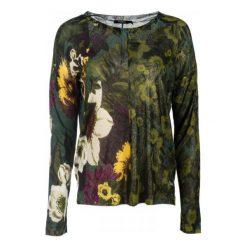 Desigual Sweter Damski Floreado M Zielony. Zielone swetry klasyczne damskie Desigual, m, z dekoltem w łódkę. Za 349,00 zł.