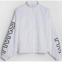 Kurtki sportowe damskie: Sportowa kurtka z napisami – Biały