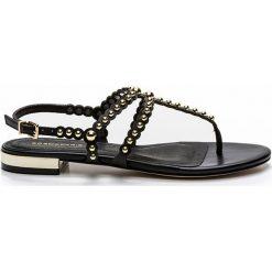 Rzymianki damskie: Sandały skórzane na płaskim obcasie Foli