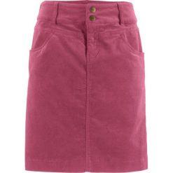 Spódnica sztruksowa bonprix czerwony rododendron. Fioletowe spódniczki marki DOMYOS, l, z bawełny. Za 74,99 zł.