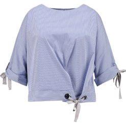 Bluzki asymetryczne: Elvi EYELET DETAIL STRIPE Bluzka blue