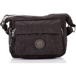 Torba listonoszka, Lekka na ramię. Czarne torby na ramię męskie marki Bag Street, w paski, na ramię, małe. Za 49,90 zł.