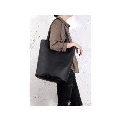 Shopper bag XL czarna teksturowana torba na zamek. Czarne shopper bag damskie Hairoo, w paski. Za 155,00 zł.