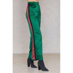 Spodnie z wysokim stanem: SheIn Spodnie z szerokimi nogawkami – Green