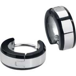 Kolczyki damskie: Rock-Silver Silver Stripe Kolczyki czarny/odcienie srebrnego
