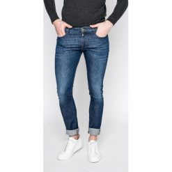 Trussardi Jeans - Jeansy 370. Niebieskie jeansy męskie slim Trussardi Jeans, z bawełny. W wyprzedaży za 379,90 zł.