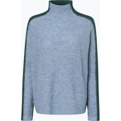 Drykorn - Sweter damski z dodatkiem alpaki – Lyza, niebieski. Niebieskie swetry klasyczne damskie DRYKORN, m, z podwójnym kołnierzykiem. Za 659,95 zł.
