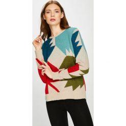 Trussardi Jeans - Sweter. Szare swetry klasyczne damskie marki Trussardi Jeans, l, z dzianiny, z okrągłym kołnierzem. W wyprzedaży za 549,90 zł.