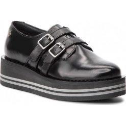 Półbuty TOMMY HILFIGER - Modern Flatform Shoe FW0FW03643 Black 990. Czarne creepersy damskie TOMMY HILFIGER, z materiału, na koturnie. Za 599,00 zł.