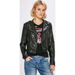 Guess Jeans - Kurtka. Szare kurtki damskie jeansowe marki Guess Jeans, l, z aplikacjami. W wyprzedaży za 539,90 zł.