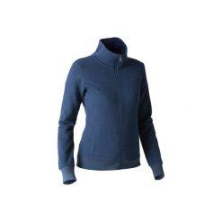 Bluza na zamek Gym & Pilates 500 damska. Niebieskie bluzy rozpinane damskie DOMYOS, xs, z bawełny. W wyprzedaży za 49,99 zł.
