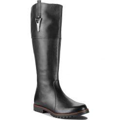 Oficerki CAPRICE - 9-25614-21 Black Nappa 022. Czarne buty zimowe damskie Caprice, ze skóry, przed kolano, na wysokim obcasie, na obcasie. W wyprzedaży za 339,00 zł.
