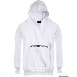 BLUZA HOODIE EX OVE UNFVCKINREAL White. Bluzy męskie rozpinane Pakamera, z długim rękawem, długie, z kapturem. Za 259,00 zł.
