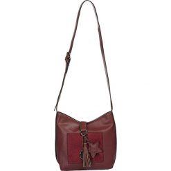 """Torebki klasyczne damskie: Skórzana torebka """"Austin"""" w kolorze ciemnoczerwonym - 23 x 22 x 11 cm"""