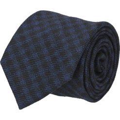 Krawat platinum granatowy classic 223. Niebieskie krawaty męskie Recman, z aplikacjami, z tkaniny, eleganckie. Za 49,00 zł.