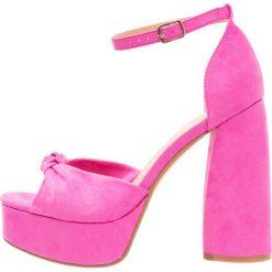 Rzymianki damskie: Public Desire BACKBITE Sandały na obcasie hot pink