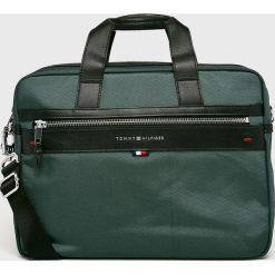 Tommy Hilfiger - Torba. Szare torby na laptopa marki TOMMY HILFIGER, w paski, z materiału. Za 539,90 zł.
