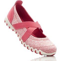 Baleriny sportowe bonprix koralowy melanż. Czerwone baleriny damskie lakierowane bonprix, melanż. Za 37,99 zł.