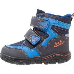 Lurchi KLAUSITEX Śniegowce atlantic cobalt. Czarne buty zimowe chłopięce marki Lurchi, z materiału. W wyprzedaży za 148,85 zł.