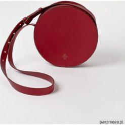 Torebki klasyczne damskie: CIRCLE BAG – w Winnej Czerwieni