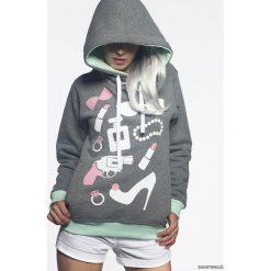 Bluza Girl Stuff. Szare bluzy dziewczęce rozpinane Pakamera, z nadrukiem, z tkaniny. Za 149,00 zł.