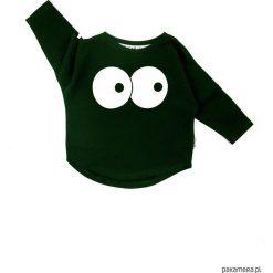 Bluza Oczy - khaki. Brązowe bluzy dziewczęce rozpinane Pakamera, z bawełny. Za 60,00 zł.