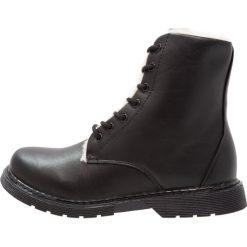 Even&Odd Botki sznurowane black. Czarne buty zimowe damskie Even&Odd, z materiału, na sznurówki. W wyprzedaży za 149,40 zł.