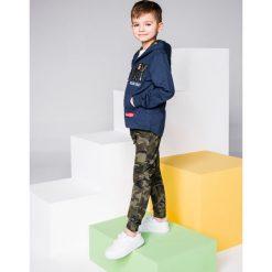 Bluzy chłopięce rozpinane: BLUZA DZIECIĘCA ROZPINANA Z KAPTUREM KB019 - CIEMNOGRANATOWA