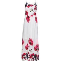 Długie sukienki: Długa sukienka z nadrukiem bonprix biały wzorzysty