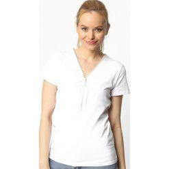 T-shirty damskie: Biały T-shirt Barrel