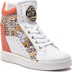 Sneakersy GUESS - FL5FIN PEL12 WHICO LIGHT NATURAL. Białe sneakersy damskie Guess, z materiału. Za 669,00 zł.
