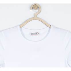 Koszulka. Białe bluzki dziewczęce bawełniane GYMNASTIC, z długim rękawem. Za 29,90 zł.