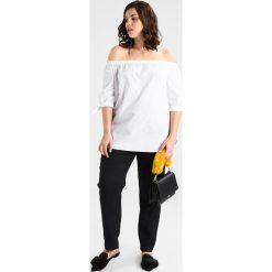 Bluzki asymetryczne: Lost Ink Plus BARDOT WITH TIES Bluzka white