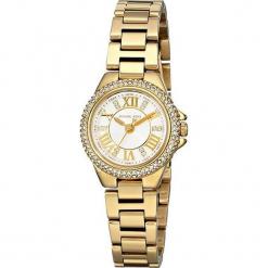 """Zegarek kwarcowy """"Mini Camille"""" w kolorze biało-złotym. Żółte, analogowe zegarki damskie marki Michael Kors, ze stali. W wyprzedaży za 522,95 zł."""