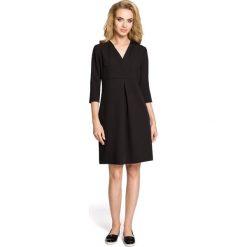 LILY Sukienka z podwójną plisą - czarna. Czarne sukienki balowe Moe, z dekoltem w serek, plisowane. Za 136,99 zł.