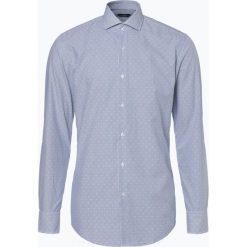 BOSS - Koszula męska – Jason, niebieski. Niebieskie koszule męskie na spinki Boss, m, w paski. Za 399,95 zł.