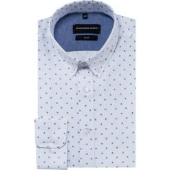 Koszula SIMONE slim KDWS000379. Czarne koszule męskie na spinki marki TOM TAILOR DENIM, l, z bawełny, button down, z długim rękawem. Za 169,00 zł.