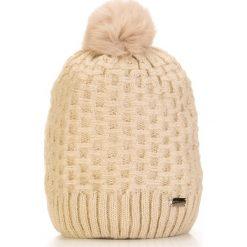 Czapka damska 85-HF-008-0. Szare czapki zimowe damskie marki Wittchen, na zimę, z dzianiny. Za 79,00 zł.