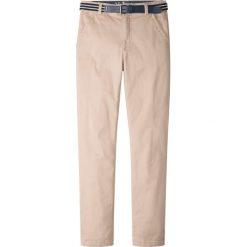Spodnie chłopięce: Spodnie chino z paskiem (2 części) bonprix cielisty