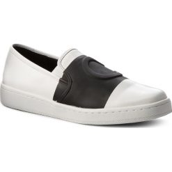 Półbuty CALVIN KLEIN - Deborah E7549 Platinum White/Black. Białe półbuty damskie skórzane marki Calvin Klein, na płaskiej podeszwie. Za 569,00 zł.