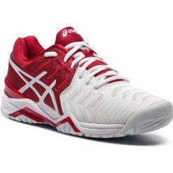 Buty ASICS - Gel-Resolution Novak E805N Classic Red/White/Silver 2301. Białe buty fitness męskie Asics, z materiału. W wyprzedaży za 419,00 zł.