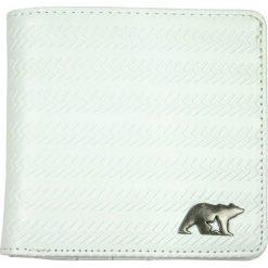 """Portfele męskie: Skórzany portfel """"Wired"""" w kolorze białym - 10,5 x 10 x 2,5 cm"""