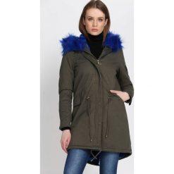 Ciemnozielona Kurtka Shipshape. Czarne kurtki damskie Born2be, na zimę, l, z aplikacjami. Za 169,99 zł.
