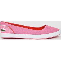 Lacoste - Tenisówki Lancelle Ballerina. Różowe tenisówki damskie Lacoste, z gumy. W wyprzedaży za 219,90 zł.